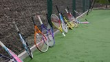 11 - Tiny tots Mini Reds on court - racquets.jpg
