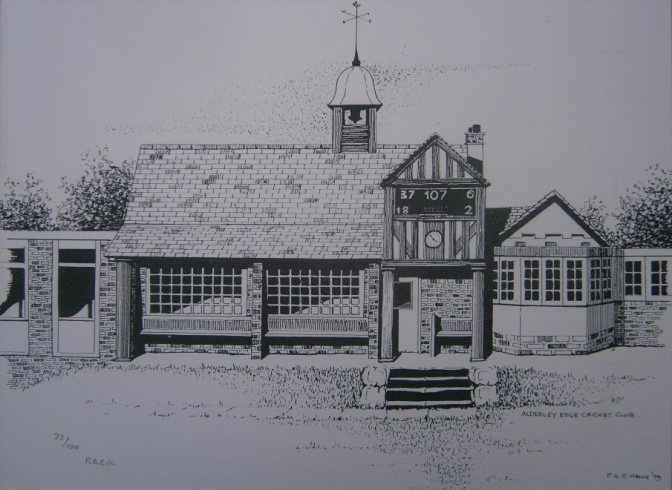 A limited edition print of the pavilion by P.A.C. Kelly in 1979
